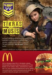 McDonalds lazerių erdvė Kaune