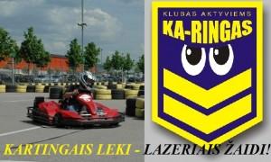 Aktyvios pramogos Kaune kartingai ir ka-ringas lazerių erdvė